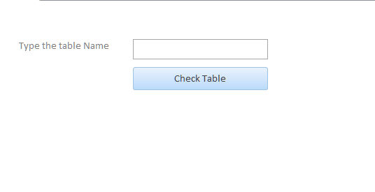 check if table exist