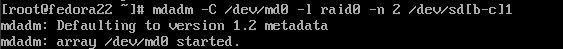 raid on fedora 22 server 4