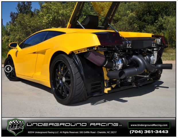 twin turbo lamborghini gallardo 4