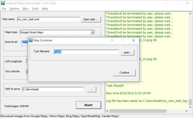 universal maps downloader map combiner
