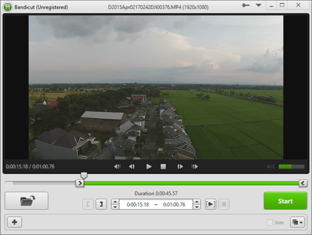cut video using bandicut 2