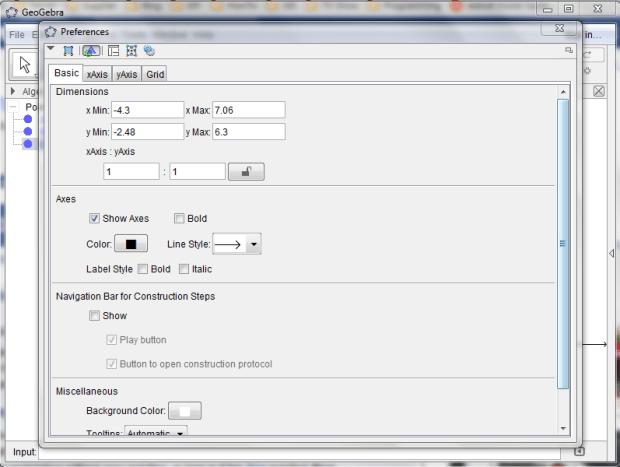 geogebra portable 5.0 preference