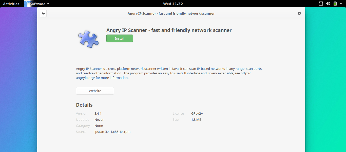 How to install Angry IP Scanner 3 4-1 on Ozon OS, Fedora 21