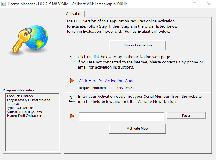 ontrack easy recovery professional serial number