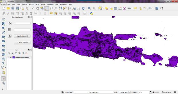 open mapinfo on Qgis