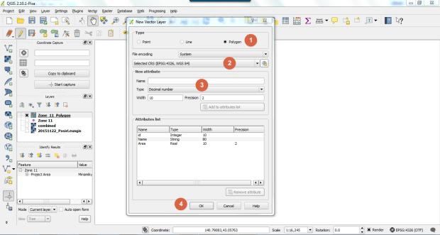 create shapefile on qgis 1