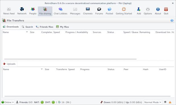 retroshare on ubuntu