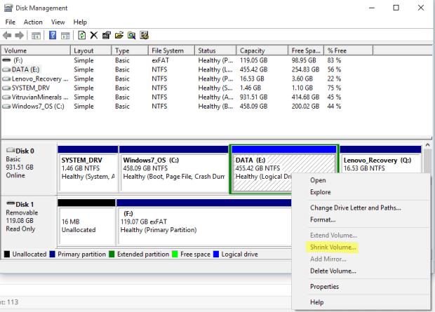 partisi di windows 10 3