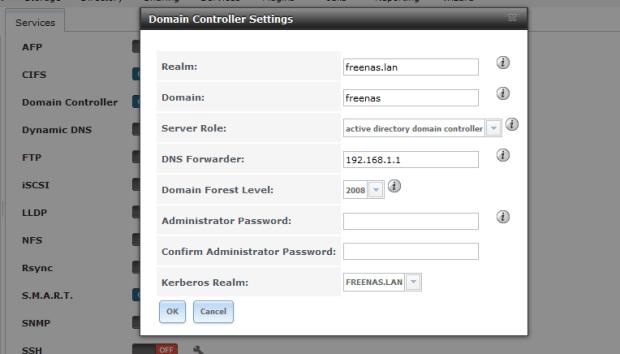 domain controller on freenas 3