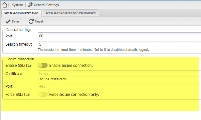 enable ssl on openmediavault