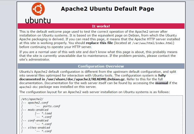 apache on ubuntu 16.04