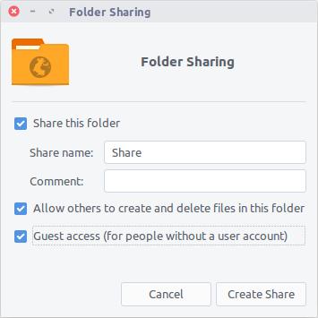 share folder ubuntu