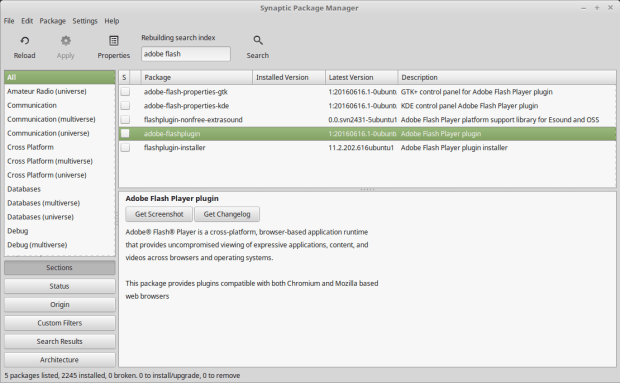 how to install adobe flash plugin on linux mint 18
