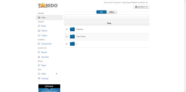 tonido on ubuntu 16.04 server.png