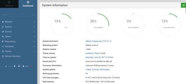 install webmin on debian 9