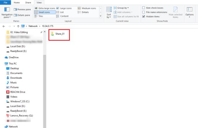 shared folder openfiler