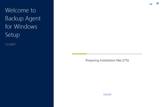 Install acronis cloud backup agent on Windows