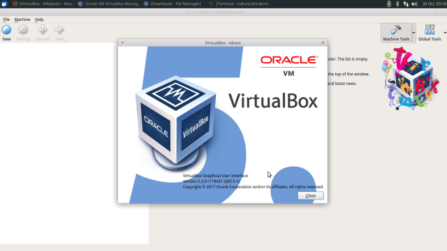 install virtualbox 5.2 on ubuntu 17.10