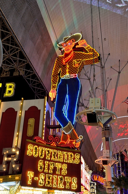 Vegas Vic welcomes you to Fremont Street