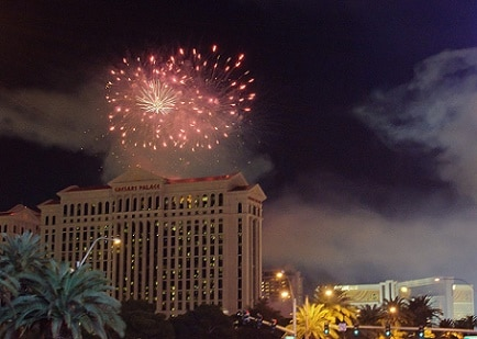 Fireworks over Caesars Palace in <a href='https://www.homesforsale-lasvegas.com/index.php?types[]=1&types[]=2&areas[]=city:Las Vegas&beds=0&baths=0&min=0&max=100000000&map=0&quick=1&submit=Search' title='Search Properties in Las Vegas'>Las Vegas</a>