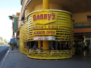 The Denny's on Fremont Street in downtown Las Vegas