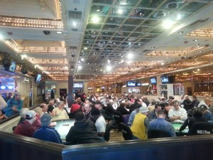 The Flamingo Poker Room in Las Vegas