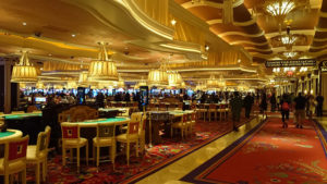 Casino space inside the Wynn