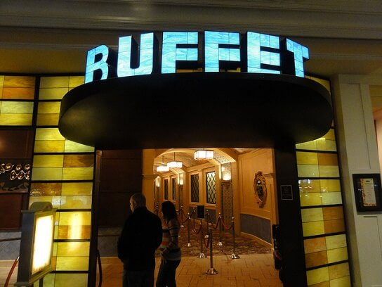 The Buffet at the Bellagio is one of the best ones in Las Vegas