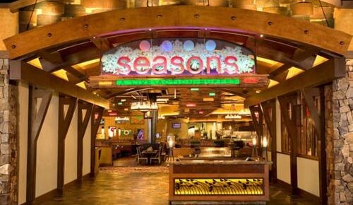 The entrance to Seasons Buffet at the Silverton Hotel & Casino