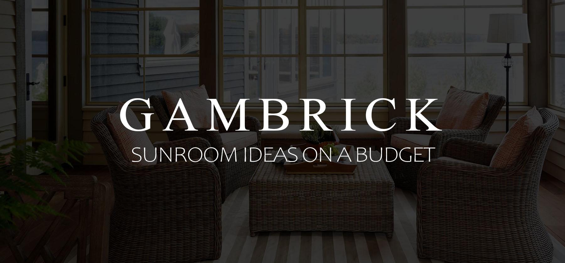 sunroom ideas on a budget budget