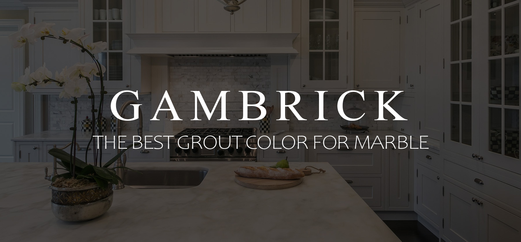 the best grout color for marble