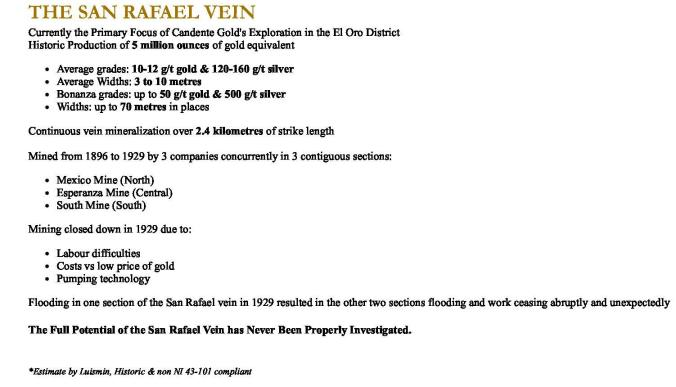 The San Rafael Vein1