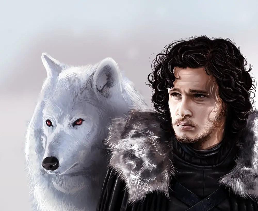 Jon Snow avec Ghost