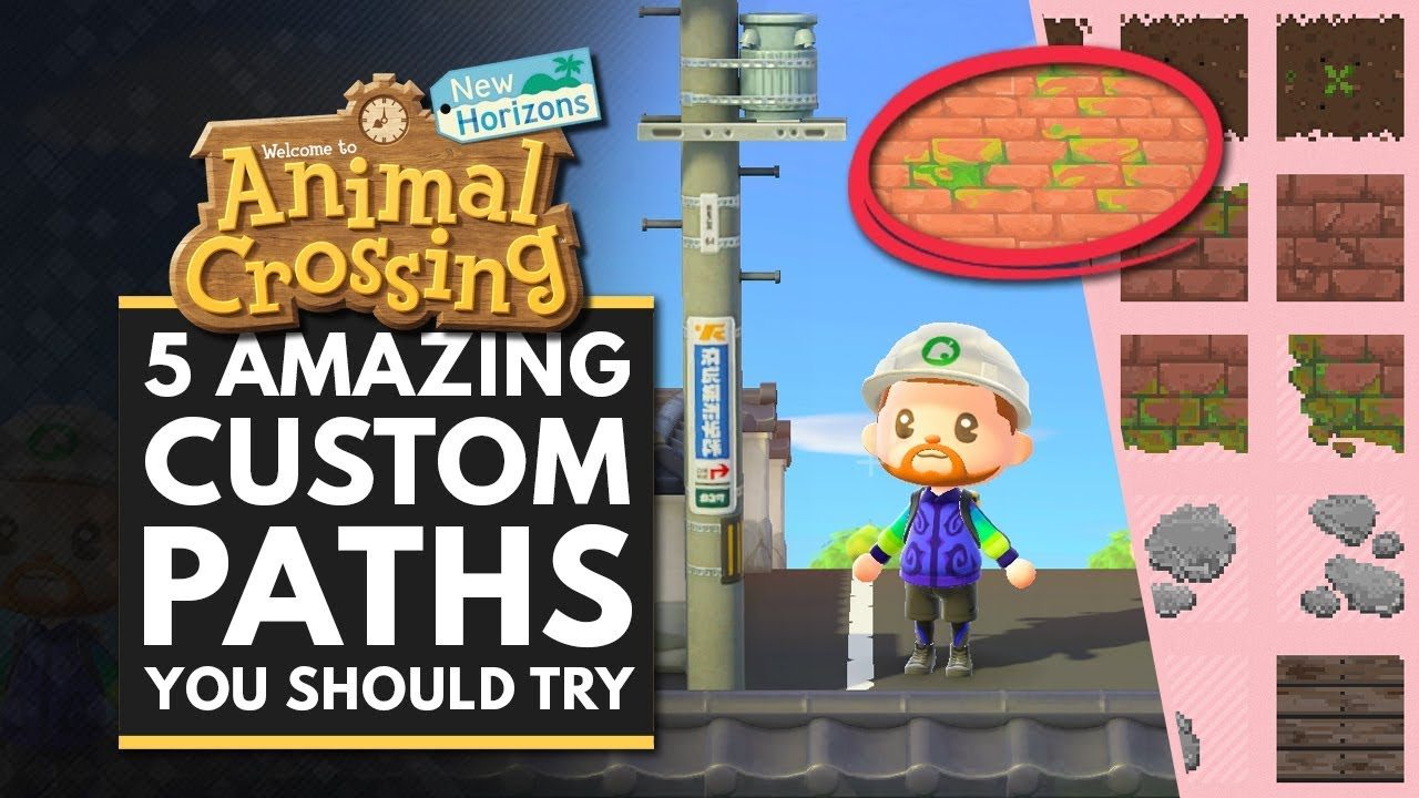 8 Awesome Path Designs in Animal Crossing: New Horizons ... on Animal Crossing New Horizons Wood Design  id=65978