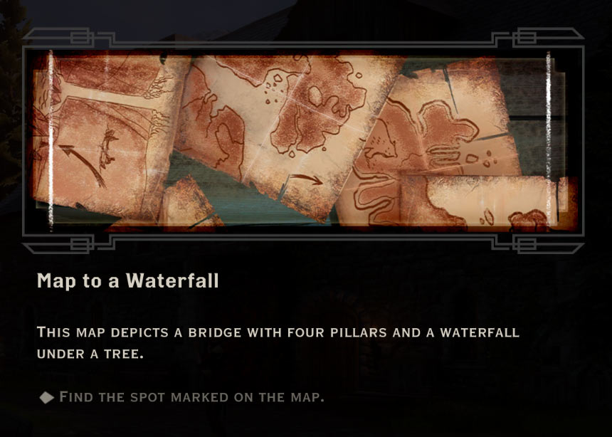 Map To A Waterfall QUEST Dragon Age Inquisition Game
