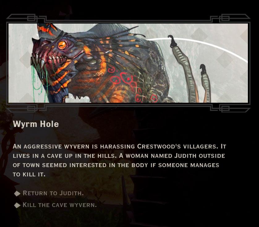 Wyrm Hole QUEST Dragon Age Inquisition