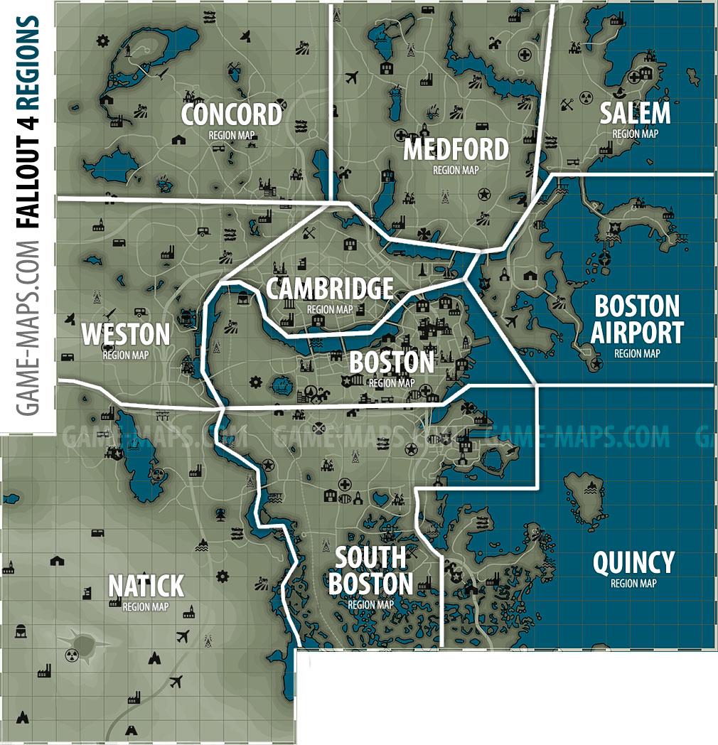 Fallout 4 Maps Walkthrough Amp Game Guide