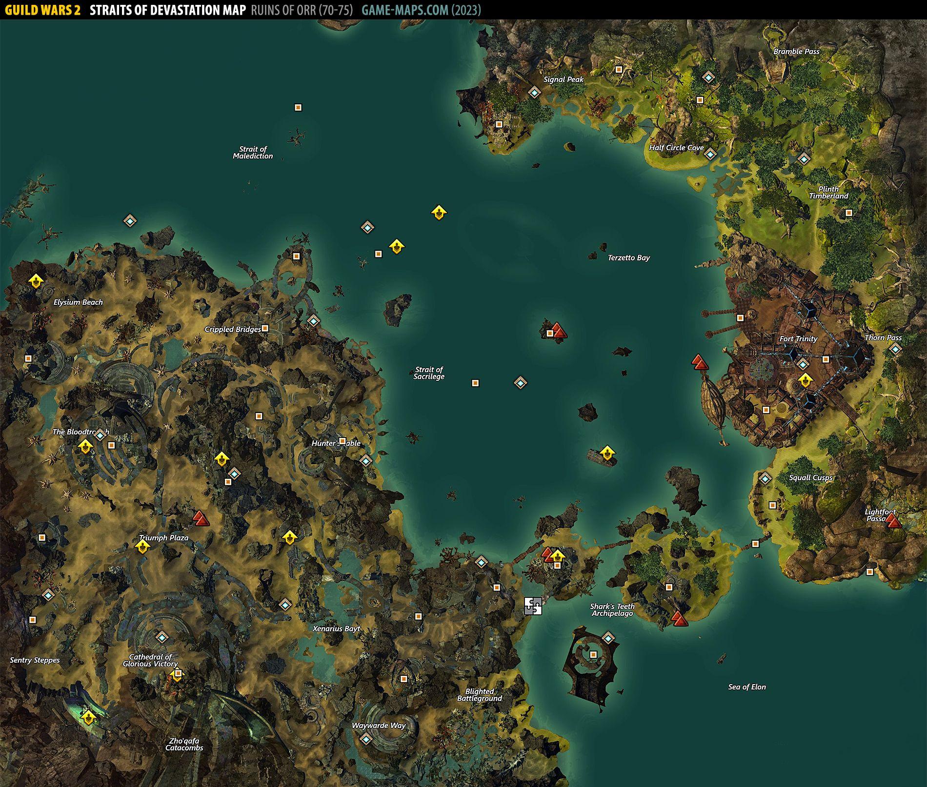 Straits Of Devastation Map Guild Wars 2