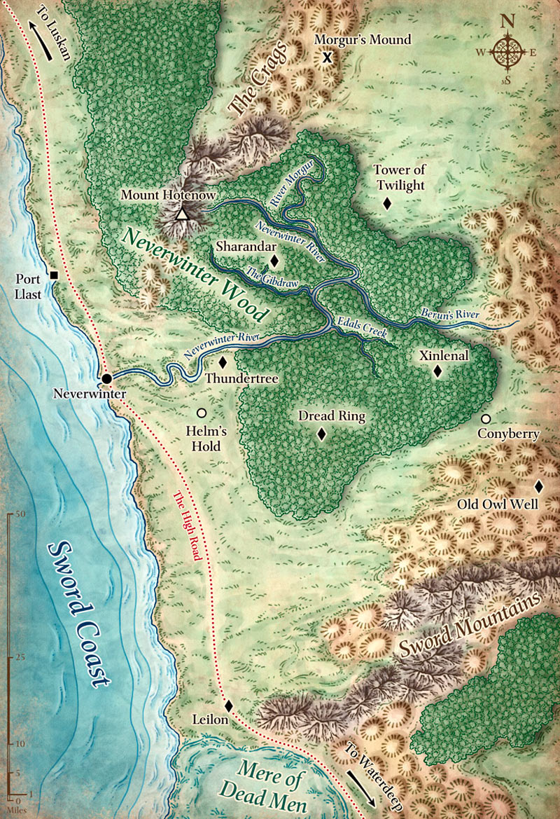 Sword Coast Map By Mike Schley
