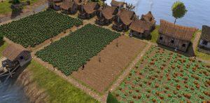 Banished 農地3面豆かぼちゃ