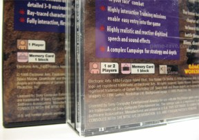 The Jewel Case corrects an error on the Long Box.