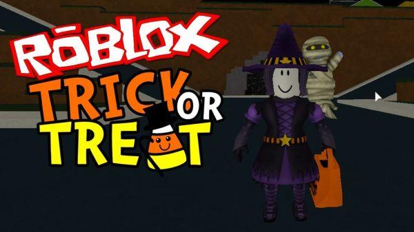 Роблокс Trick or treat играть в режим Хэллоуин, видео с Аидом