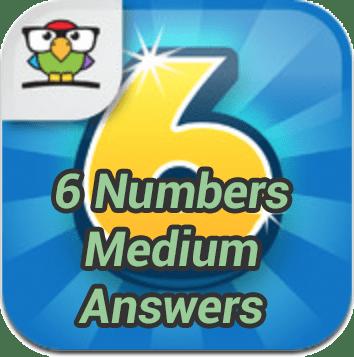 6 Numbers Medium Answers