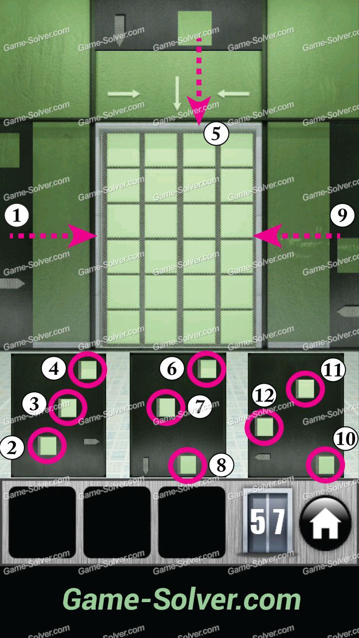 100 Doors 2013 Level 57 Game Solver