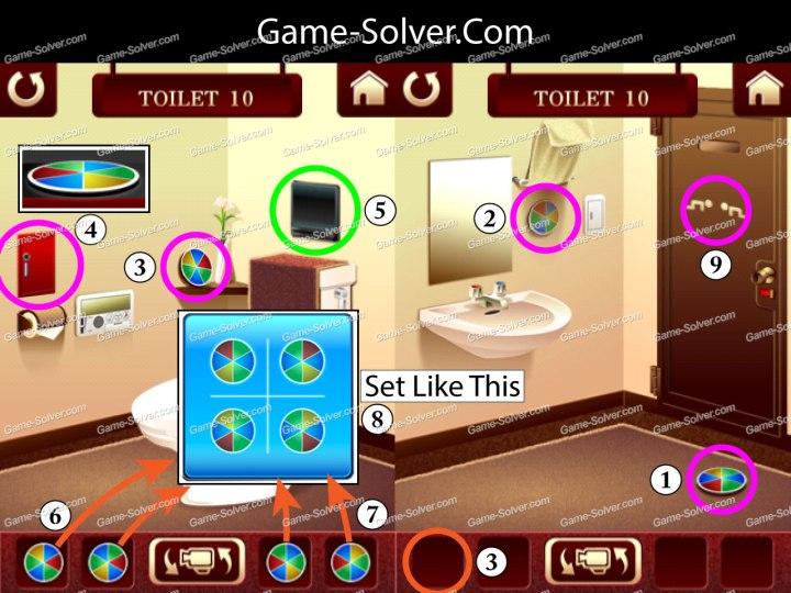 100 Toilets Level 10