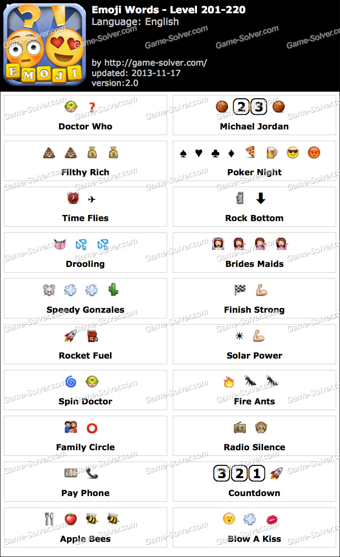 Emoji Words Level 201-220