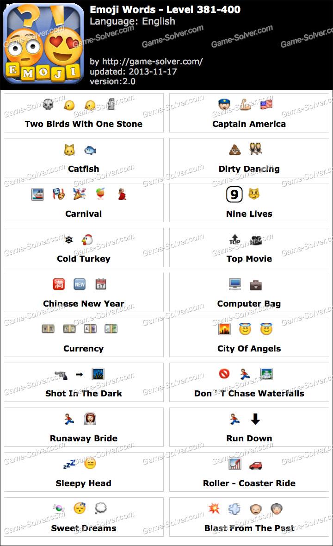 Emoji Words Level 381-400