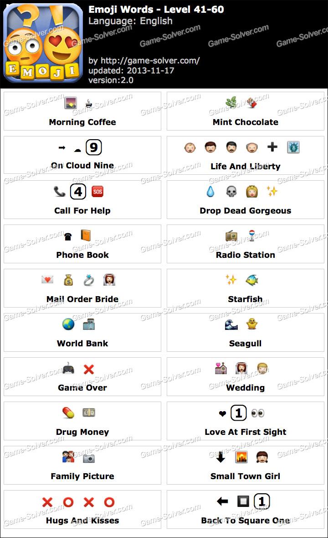 Emoji Words Level 41-60