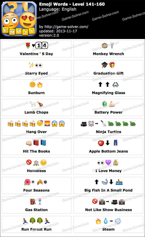 Emoji Words Level 141-160