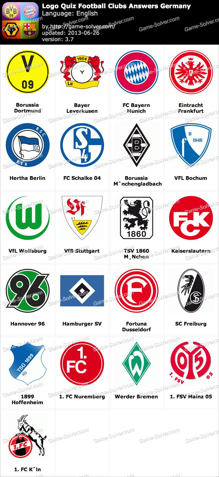Logo Quiz Football Clubs Answers Germany